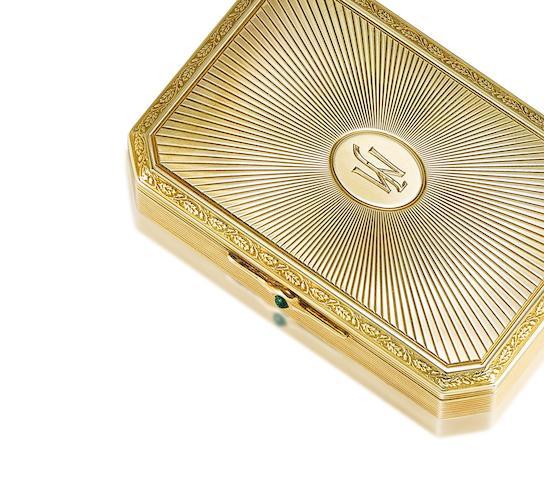 A gem-set vanity case,