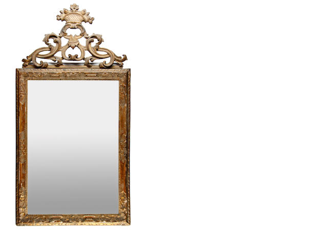 An 18th Century, and later, giltwood mirror