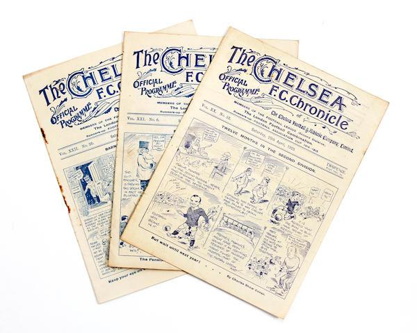 1920's Chelsea v Barnsley programmes