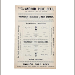 1901 Sheffield Wednesday reserves programme