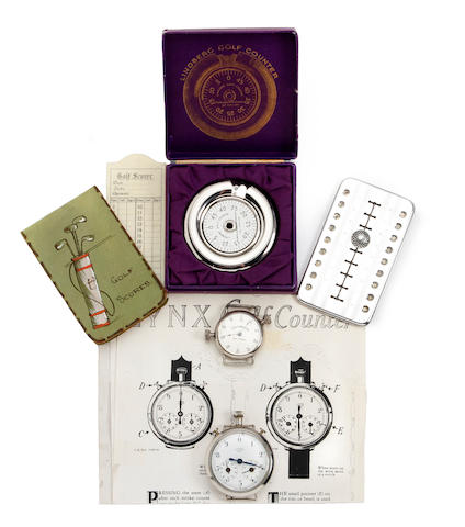 A collection of early 20thCentury scoring and measuring devices