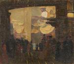 Sir Gerald Festus Kelly (British, 1879-1972) Chareh al Mahassine, Cairo; Street scene, Cairo (2)