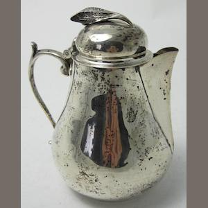 A small silver lidded jug by William Comyns & Sons Ltd, London 1934