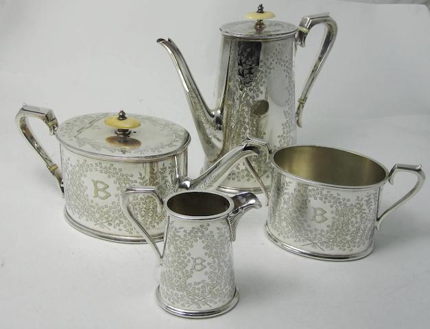 An EPNS four piece tea service