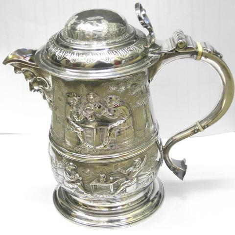 A late George II later decorated tankard by Thomas Whipham, London 1756