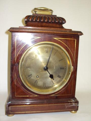 A late 19th century mahogany bracket clock Pearce & Sons Ltd. Leeds