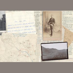 RICH (EDMUND TILLOTSON) A very good archive representing the military career of Edmund Rich (1874-1937), an officer of the Royal Engineers and surveyor, mostly on the North-West Frontier and in Burma (at first in conjunction with the Survey of India and latterly as one of its directors), also relating to survey in South Persia during World War I, and with the British forces in Southern Russia in 1919, comprising a series of photographs albums, loose photographs, autograph letters, orders, draft reports, maps ephemera, etc., together with a small quantity of photographs, letters and documents relating to Rich's ancestors, those of his wife Aileen Owen (d.1918), and their son (quantity)