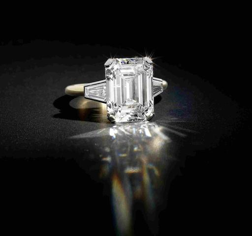 A diamond single-stone ring, by Cartier