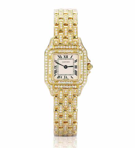 A diamond-set 'Tank' watch, by Cartier