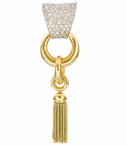 A diamond-set tassel brooch, by Boucheron
