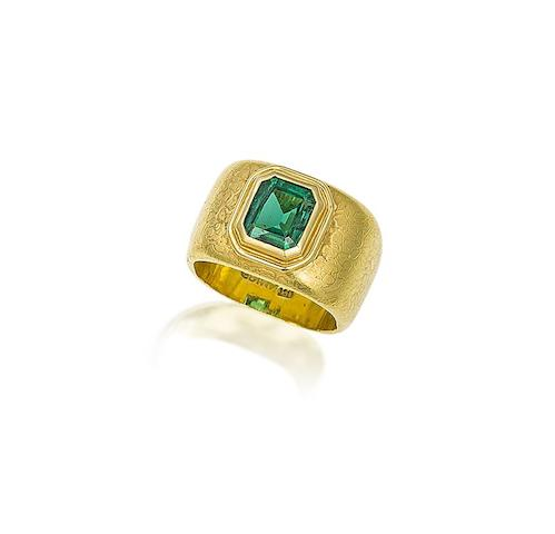An emerald ring, by Grima