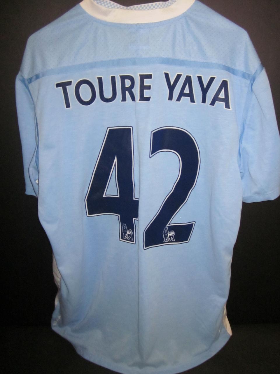 Toure Yaya match worn shirts