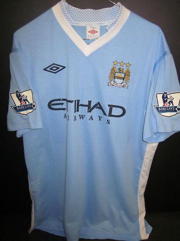 2011/12 Toure match worn Manchester City shirt