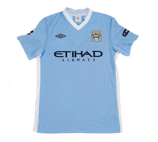 2011/12 Nasri match worn Manchester City Champions League shirt
