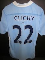 2011/12 Clichy match worn hand signed Manchester City shirt