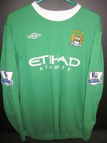 2011/12 Stuart Taylor match issued Manchester City goalkeepers jersey