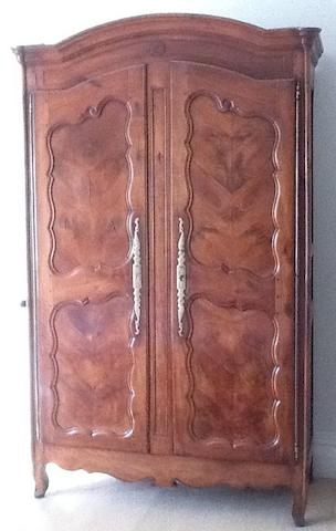 A 19th Century provincial French chestnut armoire