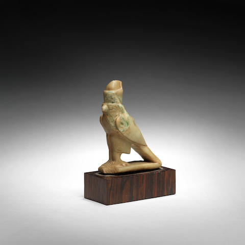 An Egyptian feldspar Horus falcon