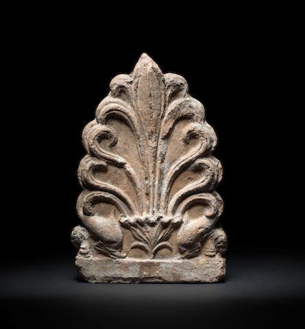 An Etruscan terracotta antefix