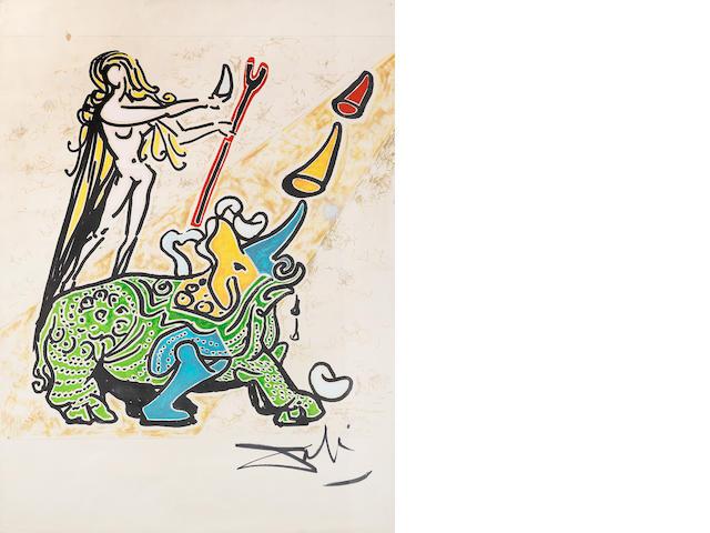 Salvador Dalí (Spanish, 1904-1989) La Vierge et le Rhinocéros