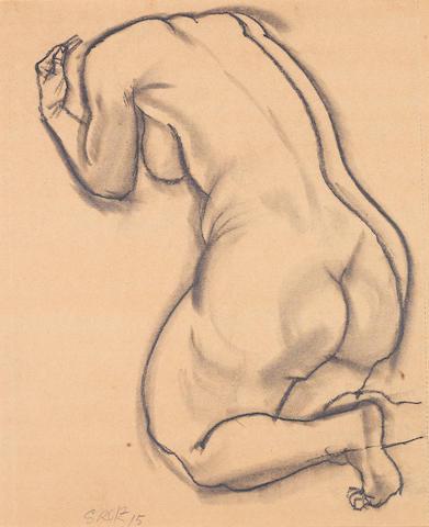 George Grosz (German, 1893-1959) Die kniende Frau
