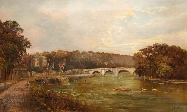 Richmond Bridge, Oil – 19th Century
