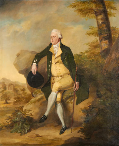 Portrait of a Gentleman in oil, signed and dated Henry Singleton 1785 (see invoice)