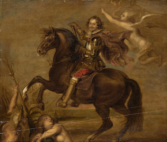 Equestrian portrait of the Duke of Buckingham, after Sir Peter Paul Rubens, 17th Century (see invoice)