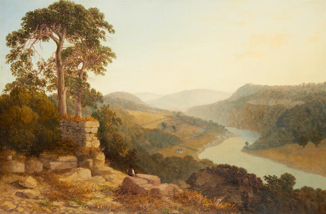 Landscape by Copley Fielding, signed and dated 1840