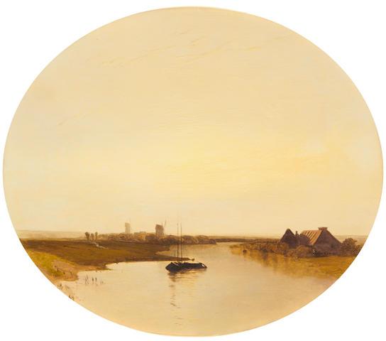 Landscape oil – Dunkirk – Charles Simms 1846