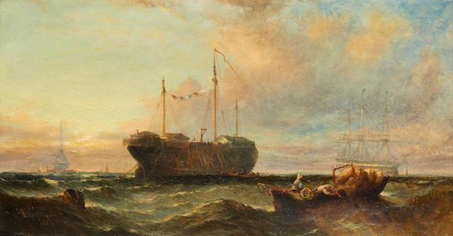 Seascape – William Callcott Knell, 1863