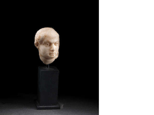 A Roman marble head of a man