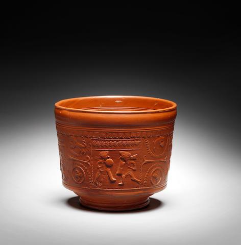 A Roman terracotta 'Terra Sigilat' Samian ware bowl