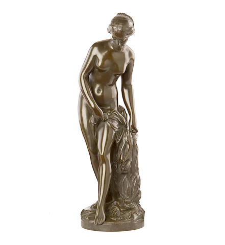 After Etienne Maurice Falconet, French, (1716-1791)  A first half 20th century bronze of Venus au Bain