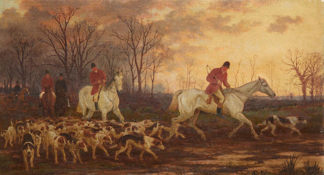 William H. Hopkins (British, fl.1853-1890) Setting out; The Return, a pair each 30.5 x 54.5cm (12 x 21 7/16in), (2).