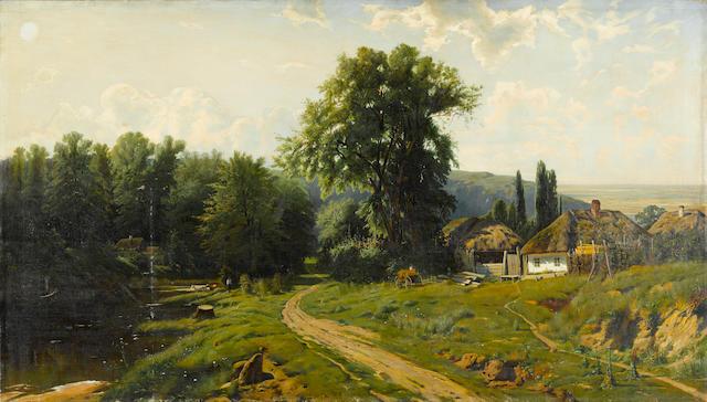 After Konstantin Kryzhitskii, Rural village in Ukraine
