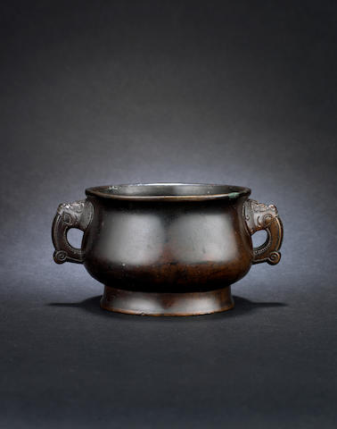 A bronze incense burner, gui Xuande six-character mark