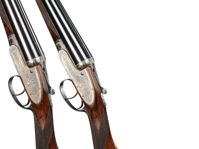 A pair of 12-bore self-opening sidelock ejector guns by J. Purdey, no. 18648/9