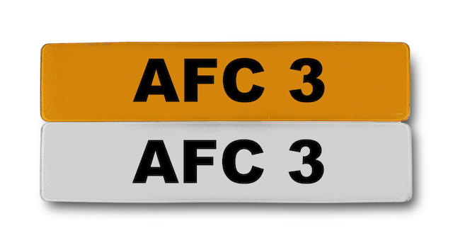 Arsenal - 'AFC 3' car registration plate