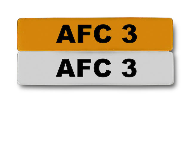 AFC 3 number plate
