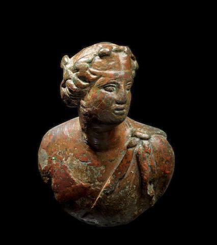 A Roman bronze attachment
