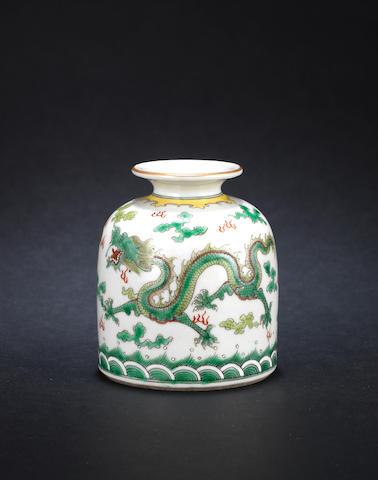 A green dragon oviform vessel, Daoguang mark