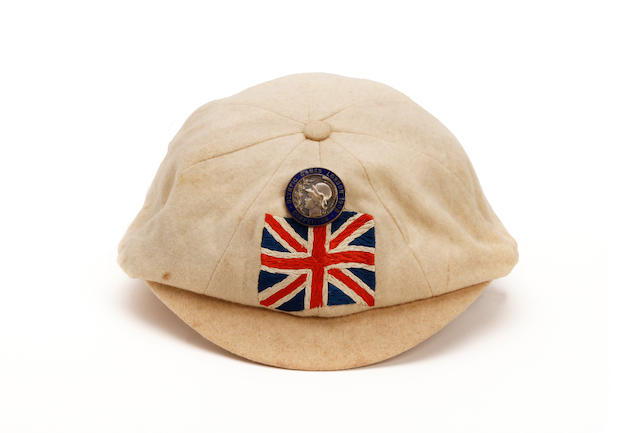 1908 Great Britain team cap and competitors badge - Arthur Astley