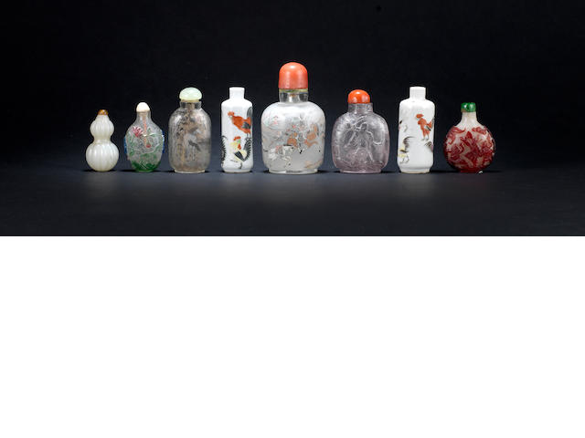 A collection of eight snuff bottles Qing Dynasty or later