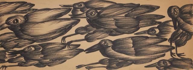 Gladys Mgudlandlu (South African, 1917-1979) Study of birds