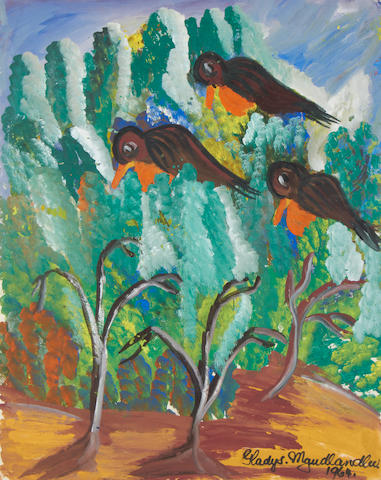 Gladys Mgudlandlu (South African, 1917-1979) Three birds