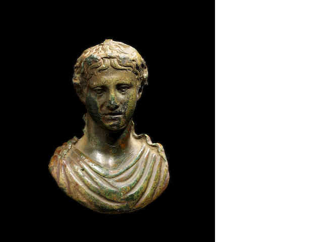 A Roman bronze steelyard in the form of an emperor(27)