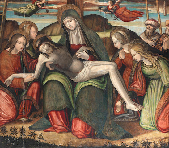Follower of Amico Aspertini (Bologna 1474-1552) The Lamentation unframed