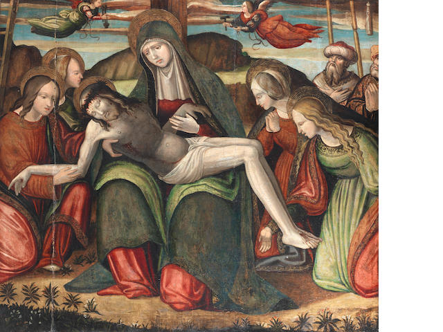 Follower of Amico Aspertini (Bologna 1474-1552) The Lamentation