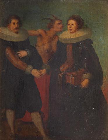 Circle of Louis de Caullery (Cambrai 1580-1621 Antwerp) An allegorical group